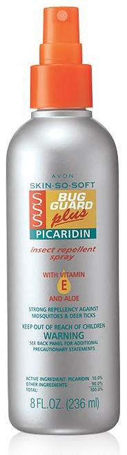 Avon Skin So Soft Bug Guard Plus Picaridin Family Size Pump Spray